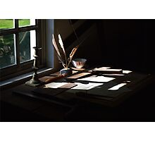 The Writer's Desk Photographic Print