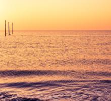 lovely view from Sankt Peter-Ording beach Sticker