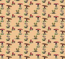 Mushroom Pattern by Williambeuk