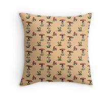 Mushroom Pattern Throw Pillow
