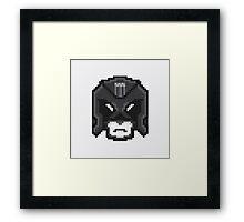 Pixel Dredd Framed Print