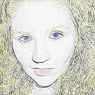 Self Portrait- sketch with color added by Constance