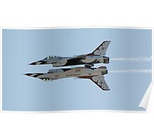 USAF Thunderbirds in Formation Poster