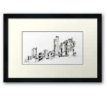Gas Works Park Pen Sketching Framed Print