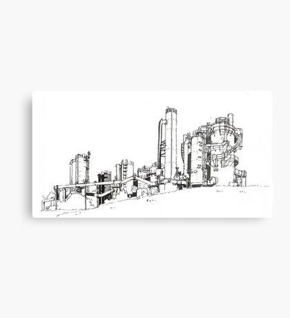 Gas Works Park Pen Sketching Metal Print