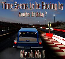 Drag Racing Birthday Card  by kelleybear