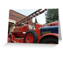 1928 Dennis Fire Engine - Canberra Fire Museum Greeting Card