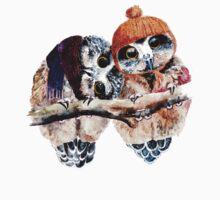 Winter Owls One Piece - Short Sleeve