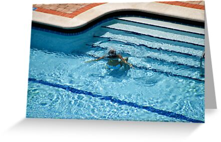 Woman in Pool Underwater by Mark Payne