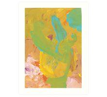 Flower (by Anya, age 3) Art Print
