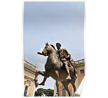 Marcus Aurelius statue, Rome, Italy Poster