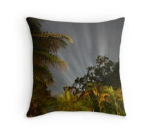 flourescent trees Throw Pillow