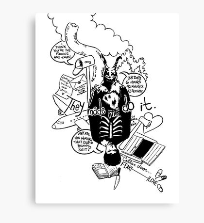Donnie Darko (White background) Canvas Print