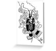 Donnie Darko (White background) Greeting Card