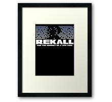 Paul Verhoeven's Total Recall (Arnold Schwarzenegger) Framed Print