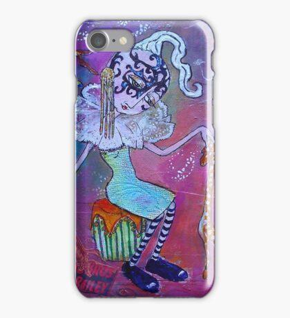 Cora the Big Eyed Crooked Neck Girl iPhone Case/Skin