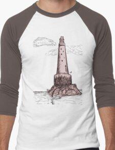 bishop rock, lighthouse  Men's Baseball ¾ T-Shirt
