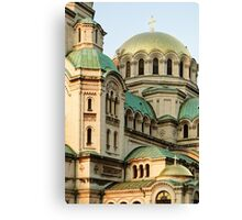 St Alexander Nevsky Orthodox Christian Cathedral in Sofia, Bulgaria Canvas Print