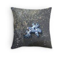 The Blue Nautilus Throw Pillow