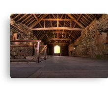 Upstairs Dormitory, Valle Crucis Abbey Canvas Print
