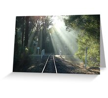 Puffing Billy Track Greeting Card
