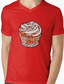 Vintage Cupcake Mens V-Neck T-Shirt