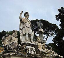 Fontana della dea di Roma, Piazza Del Popolo, Rome, Italy by buttonpresser