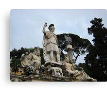 Fontana della dea di Roma, Piazza Del Popolo, Rome, Italy Canvas Print