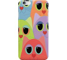 CAT FACES FIVE iPhone Case/Skin