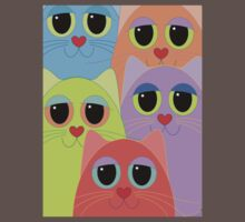 CAT FACES FIVE Kids Clothes