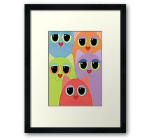 CAT FACES FIVE Framed Print