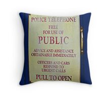 Tardis sign Throw Pillow
