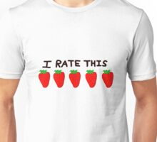 Five out of five strawberries Unisex T-Shirt