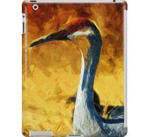 Sandhill Crane In Autumn Abstract Impressionism iPad Case/Skin