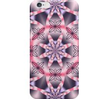Pink and purple fantasy floral kaleidoscope iPhone Case/Skin