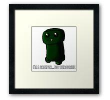 ¿Creeper... or Herobrine? Art Framed Print