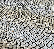 Cobbled stone, Bergen, Norway by buttonpresser