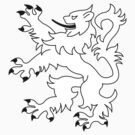 Rampant Lion White by Iain Macdonald