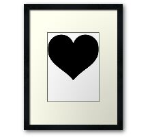 Black Heart  Framed Print