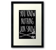 You Know Nothing II Framed Print