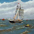 Schooner in the Herring Fleet. by WILT