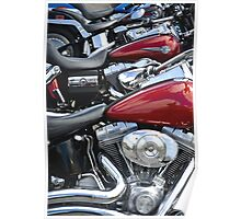 Row of Harleys Poster