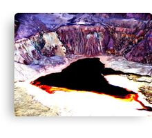 Lavender Pit Abstract Canvas Print