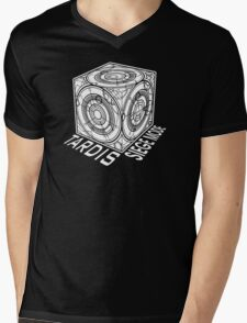 "Tardis ""Siege Mod"" Title - Doctor Who Mens V-Neck T-Shirt"