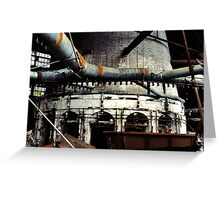 Glass Factory Greeting Card