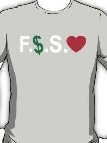 Fuck Money Spread Love [White] T-Shirt