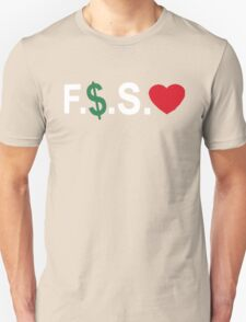 Fuck Money Spread Love [White] Unisex T-Shirt