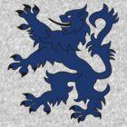 Rampant Lion Blue by Iain Macdonald