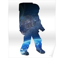 Space Man  - Astronaut Abstract Poster