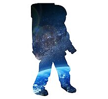Space Man  - Astronaut Abstract Photographic Print